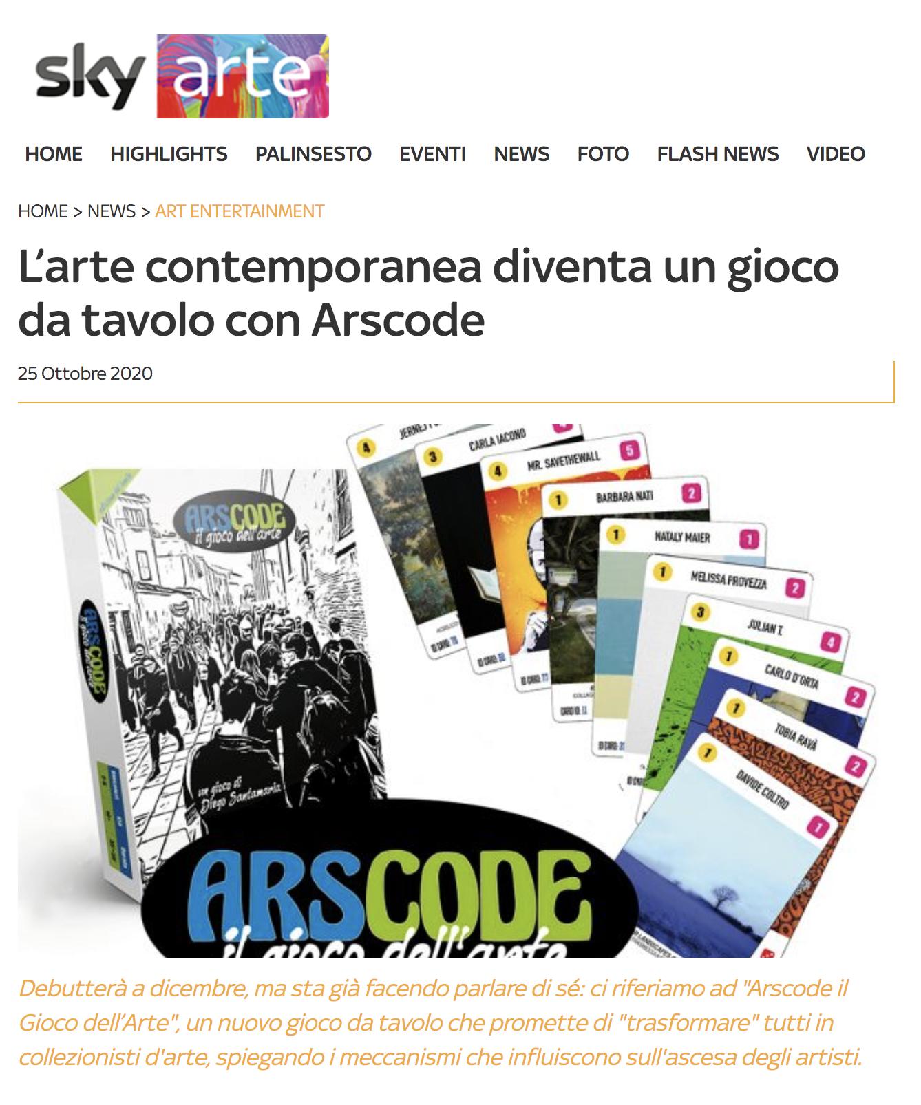 L'arte contemporanea diventa un gioco da tavolo con Arscode | Sky Arte