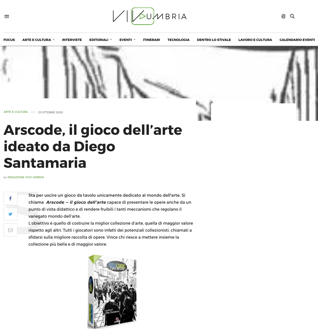 Arscode, il gioco dell'arte ideato da Diego Santamaria | Vivo Umbria
